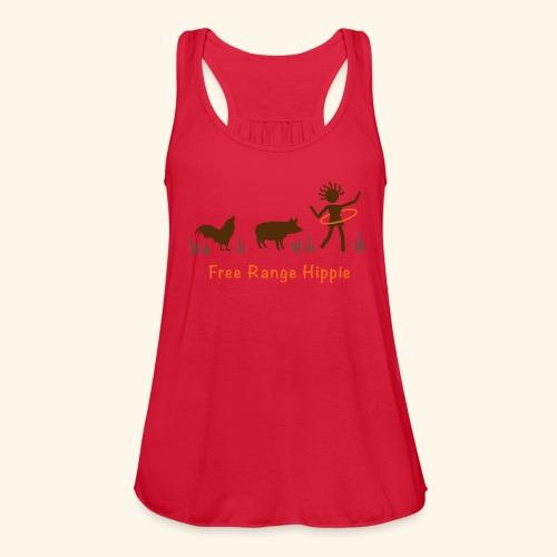 Free-range Hippie Flowy Tank - Women's Flowy Tank Top by Bella