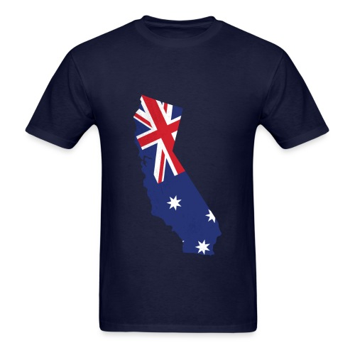 Aussie in Cali T-shirt - Men's T-Shirt