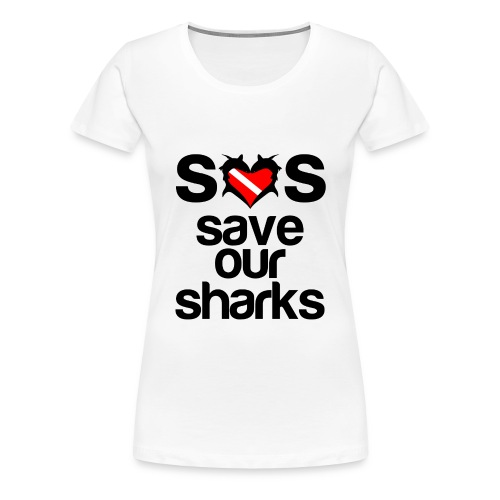 Women's Premium T-Shirt - t-shirts with shark designs,sharks t shirts,shark week t-shirt,shark week shirts,shark week apparel,shark week,shark t-shirt,i love sharks