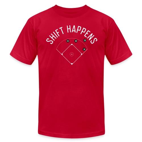 Shift Happens (Red/White/Black) - Men's Fine Jersey T-Shirt