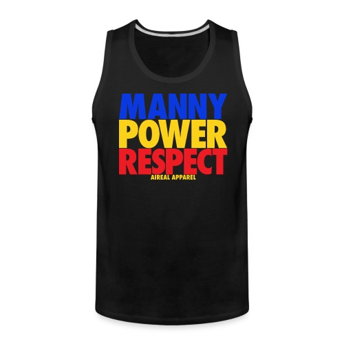 Manny Power Respect Mens Tank Top by AiReal Apparel - Men's Premium Tank