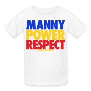 Manny Power Respect KidsTee Shirt by AiReal Apparel - Kids' T-Shirt
