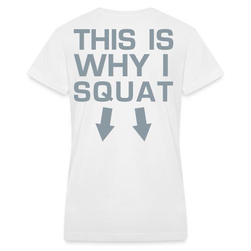 Squat V-Neck - Female - Women's V-Neck T-Shirt