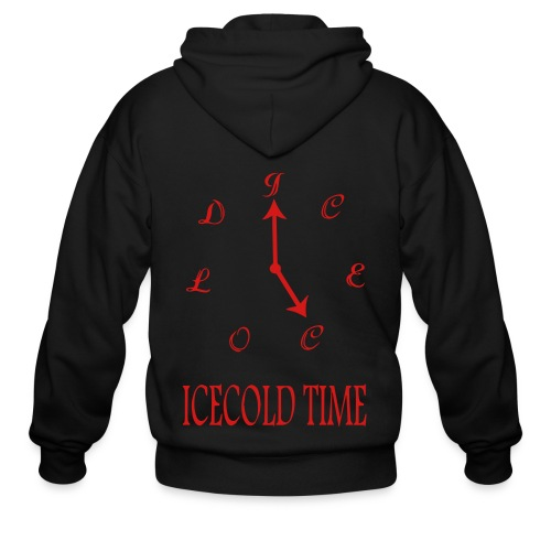 IceCold Time Red - Men's Zip Hoodie
