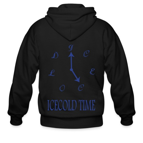 IceCold Time Blue - Men's Zip Hoodie