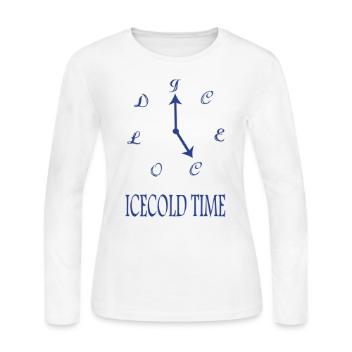 IceCold Time Blue - Women's Long Sleeve Jersey T-Shirt