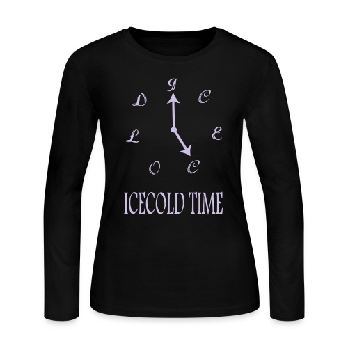 IceCold Time Light Purple - Women's Long Sleeve Jersey T-Shirt