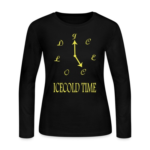 IceCold Time Yellow - Women's Long Sleeve Jersey T-Shirt