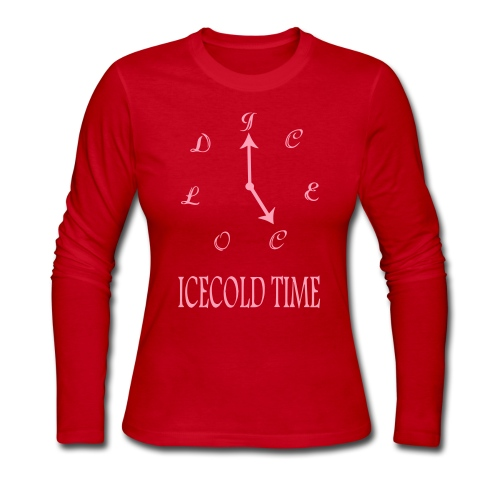 IceCold Time Pink - Women's Long Sleeve Jersey T-Shirt
