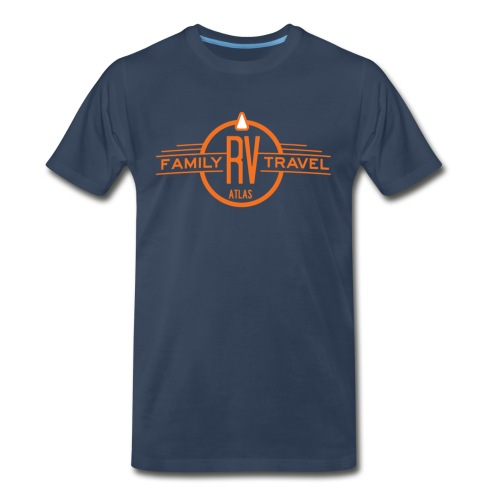 Men's Short-Sleeve T-Shirt, Navy - Men's Premium T-Shirt