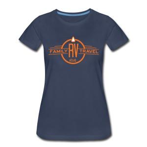 Women's short-sleeved T-shirt, Navy - Women's Premium T-Shirt