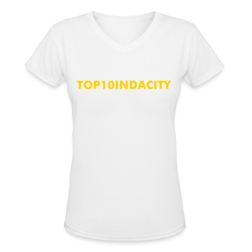 WOMEN'S TOP10INDACITY  V-NECK T-SHIRT  - Women's V-Neck T-Shirt