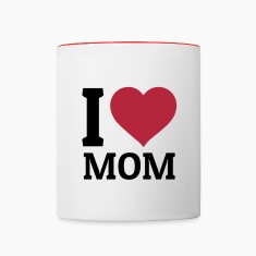 I love Mom Mugs & Drinkware