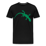 T-Shirts ~ Men's Premium T-Shirt ~ Bright Green Gecko