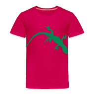 Baby & Toddler Shirts ~ Toddler Premium T-Shirt ~ Bright Green Gecko