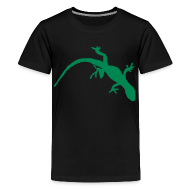 Kids' Shirts ~ Kids' Premium T-Shirt ~ Bright Green Gecko