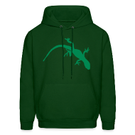 Hoodies ~ Men's Hoodie ~ Bright Green Gecko