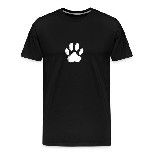 White Dog Paw Newsprint - Men's Premium T-Shirt