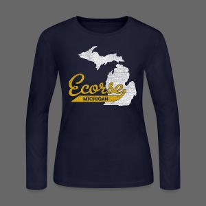 Ecorse MI - Women's Long Sleeve Jersey T-Shirt