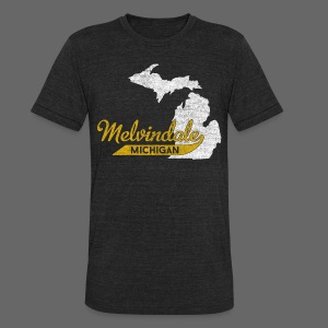 Melvindale MI - Unisex Tri-Blend T-Shirt by American Apparel