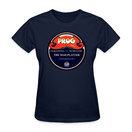 Navy Blue Ladies Prog at 33 and 1/3 Disc T-Shirt - Women's T-Shirt