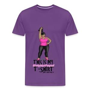 #FatWithAPonytail Diva - Men's Premium T-Shirt