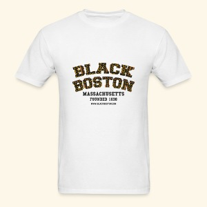 Black Boston Gold Massachusetts Classic T  - Men's T-Shirt
