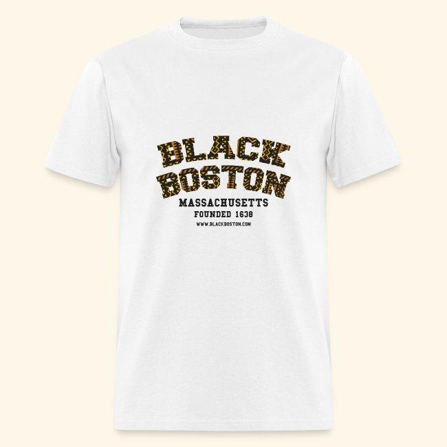 Black Boston Gold Massachusetts Classic T