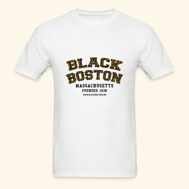 Black Boston Gold Massachusetts Classic T