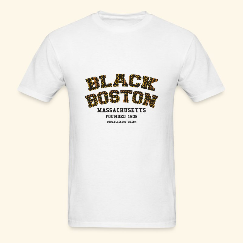 Black Boston Gold Massachusetts Classic T  - Men's T-Shirt