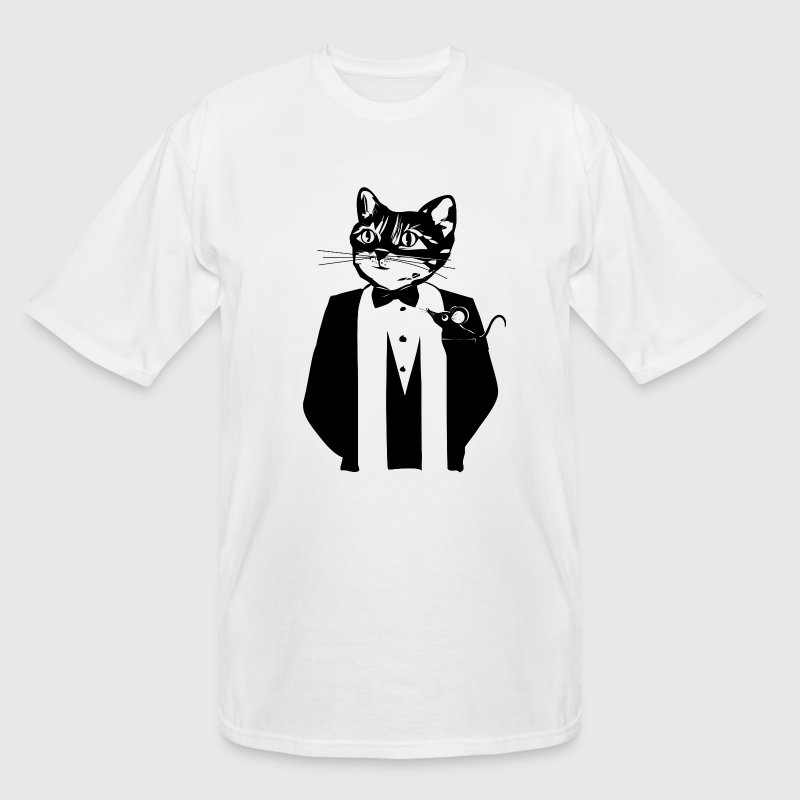 Cat in a tuxedo T-Shirts - Men's Tall T-Shirt
