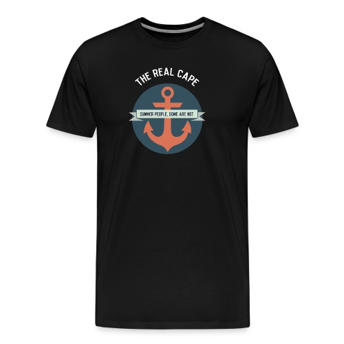 Anchor White Lettering - Men's Premium T-Shirt