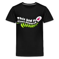 Kids' Shirts ~ Kids' Premium T-Shirt ~ Kid's Plant Powered Black T-Shirt