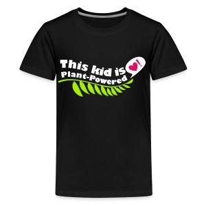 Kid's Plant Powered Black T-Shirt - Kids' Premium T-Shirt