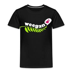 Toddler Weegan Black T-Shirt - Toddler Premium T-Shirt