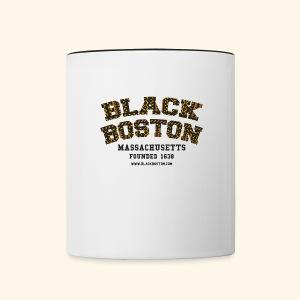 Boston Black Coffee Mug a Black Boston souvenir - Contrast Coffee Mug
