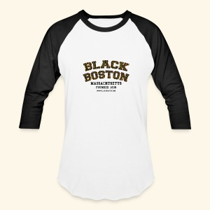 Boston Souvenir Black Boston Classic T-shirt  long sleeve baseball style - Baseball T-Shirt