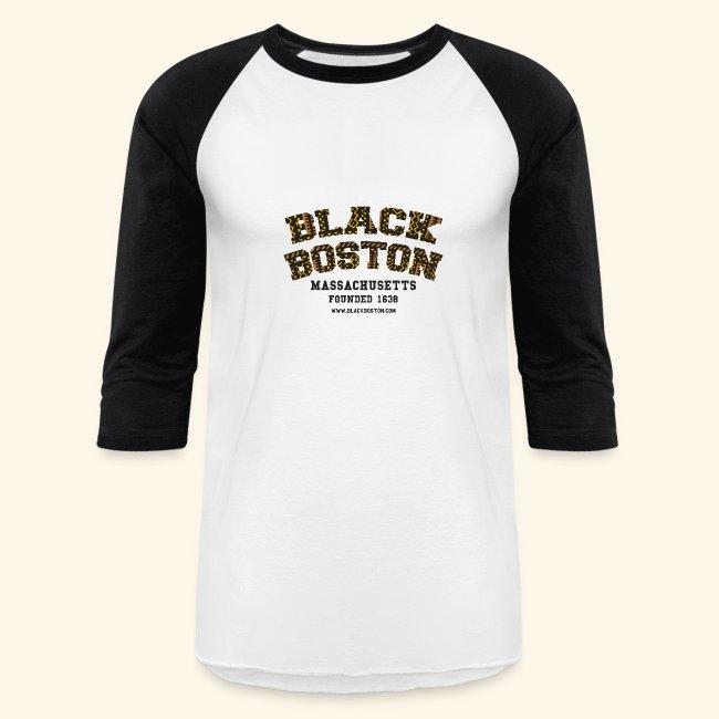Boston Souvenir Black Boston Classic T-shirt  long sleeve baseball style