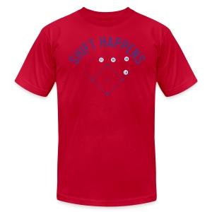 Shift Happens (Baby Blue/Royal/White) - Men's Fine Jersey T-Shirt