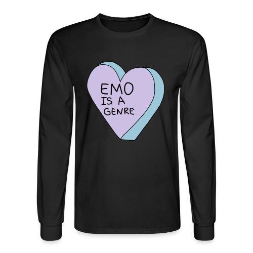 Emo is a Genre - Men's Long Sleeve T-Shirt