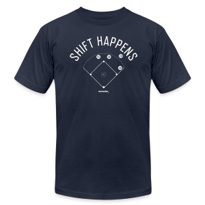 Shift Happens (RotoWire) - Men's T-Shirt by American Apparel
