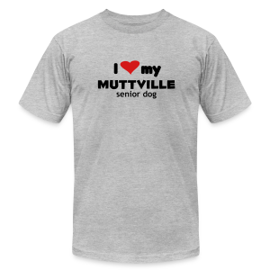I love my Muttville senior dog men's tee (black text) - Men's Fine Jersey T-Shirt