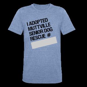 Muttville's #3000 Milestone Commemorative Tee - Unisex Tri-Blend T-Shirt