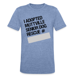 Muttville's #3000 Milestone Commemorative Tee - Unisex Tri-Blend T-Shirt by American Apparel