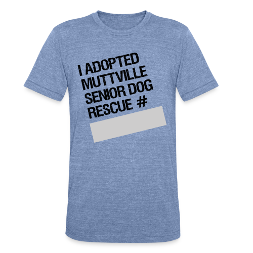 Muttville's #3000 Milestone Commemorative Tee - Unisex Tri-Blend T-Shirt
