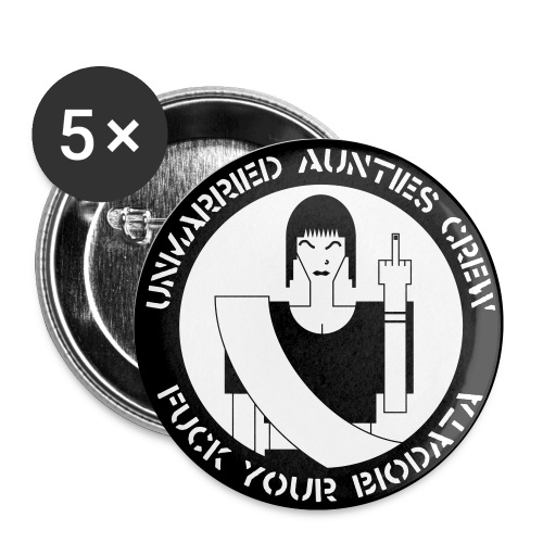 Unmarried Aunties Crew Logo 1 Button - Small Buttons