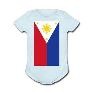 Philippine Flag Kids Onesie Shirt By AiReal Apparel - Short Sleeve Baby Bodysuit