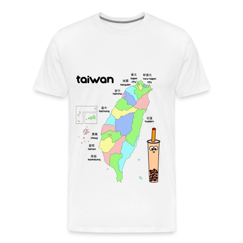 Taiwan Map - Men's Tee - Men's Premium T-Shirt