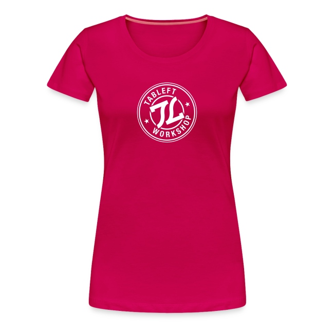 Womens white stamp logo with back small upper back logo