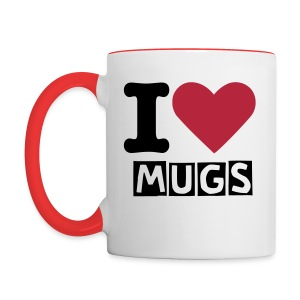 I ♥ mugs - Contrast Coffee Mug